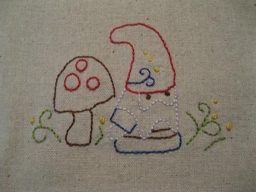 doodle stitch along week 1 (gnome)