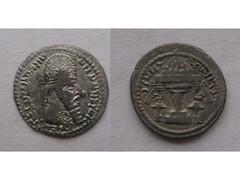 Ardashir obol (Baltimore Bob) Tags: money silver persian coin ancient persia altar obol zoroastrian sassanian sasanian ardashir