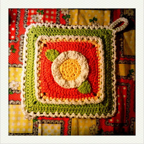 flower potholder