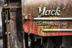 Mack 2 (PAJ880) Tags: mack cab thermodyne detail logo trim patina corrosion ct b 60 1959 canaan