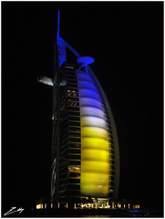 Burj El Arab Hotel (Eddzzz...) Tags: stars hotel tallesthotel mostluxurioushotel hotelluxurious burjelarabhotel worldrecordlighting effectsgold7