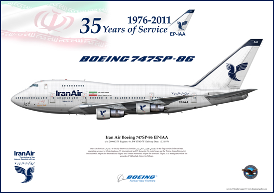 Iran Air Boeing 747SP-86 EP-IAA