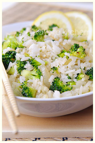 Citrus and Broccoli Rice