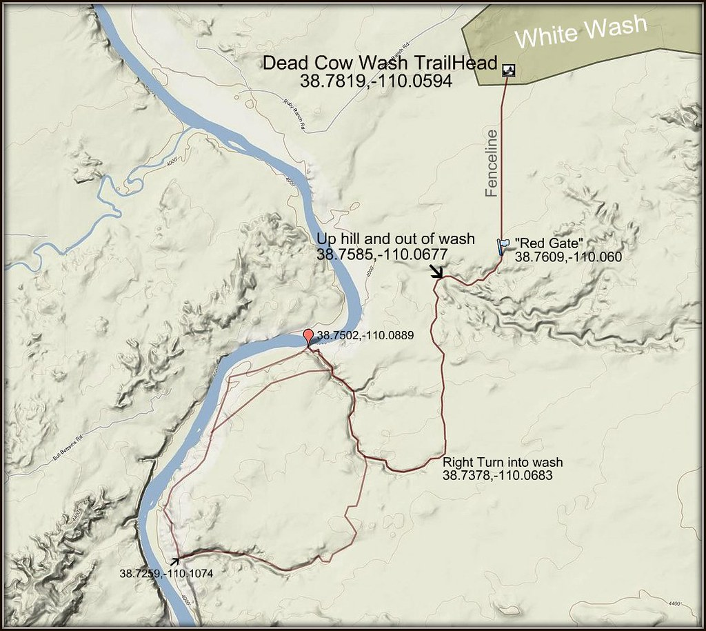 White Wash Sand Dunes Nov - Wash map