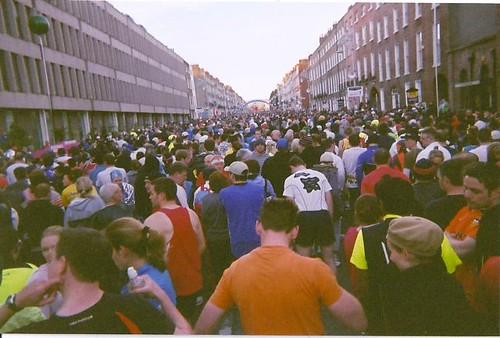 Start of the race with over 10,000 other runners.