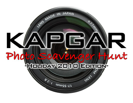 Kapgar Photo Scavenger Hunt - Holiday 2010 Edition