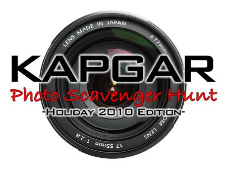 Kapgar Photo Scavenger Hunt - Holiday 2010 Edition