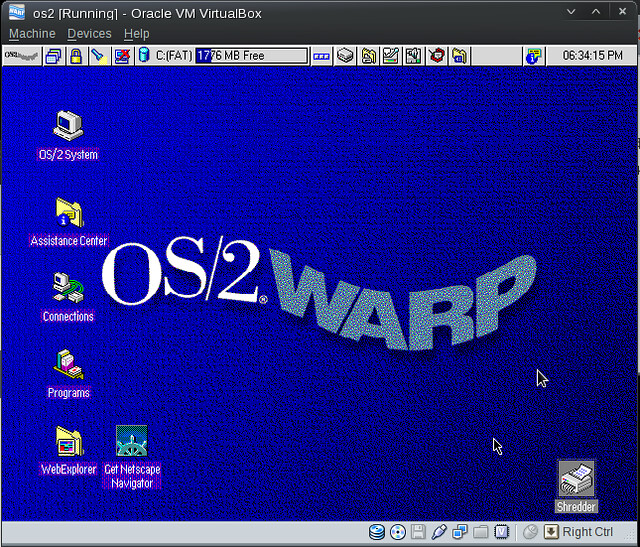 OS/2 installed