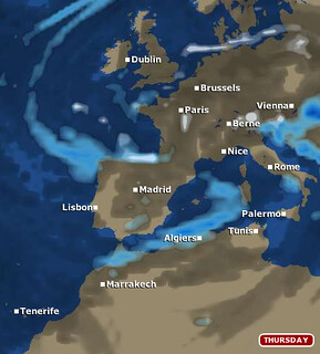 Europe map according to BBC Weather Foreacst S...