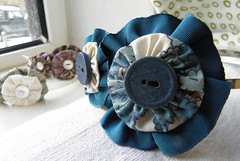 Vintage Fabric Fascinator Bands (Wychbury Designs) Tags: wedding tiara vintage hair recycled handmade buttons teal sewing fabric ribbon accessories etsy bridal headband accessory folksy upcycled fascinator