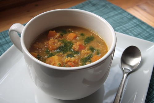 curried butternut squash red lentil soup