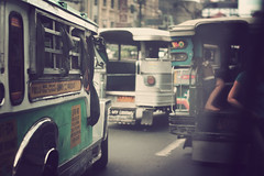Jeepney traffic (dveezy) Tags: publictransportation traffic philippines dailycommute transportation commute filipino jeepney