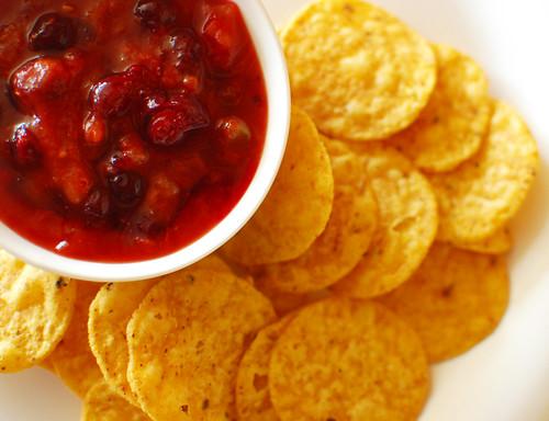 Sweet & Spicy Cranberry Tomato Salsa