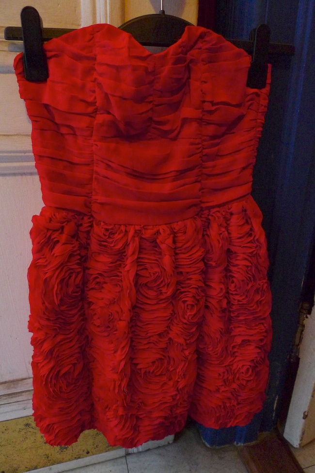 H m red dress uk 10