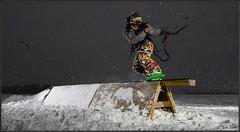 Karri frontti boardi (Tomi Thti) Tags: winter snow ice finland helsinki wind kiteboarding lumi talvi laajalahti leija j snowkiting snowkite tuuli leijahiihto surffaus leijalautailu