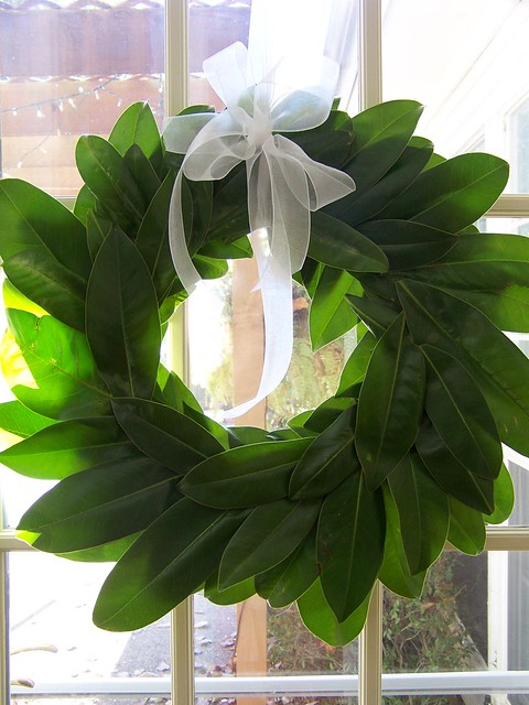 Hi Sugarplum! - Magnolia Leaf Wreath