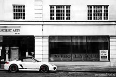 Porsche Boxster Spyder (Jeroenolthof.nl) Tags: london westminster square berkeley convertible spyder porsche londres boxster mayfair londra londen roadster ldn