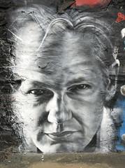 Julian ASSANGE arrested, painted portrait - Wi...