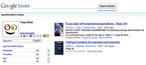 Google books - My library search