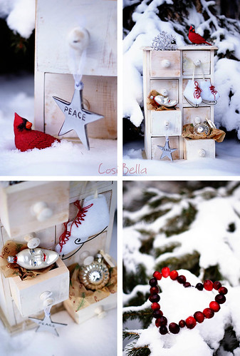 Christmas red & white