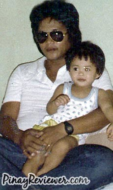 My father and I when I was a baby - PinayReviewer.com