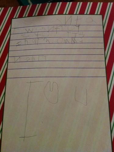 Noah's Santa letter