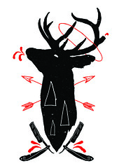 1 (h.a.t.e.) Tags: death fuck head deer antlers arrows vector decapitation