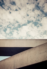 (Design.Her) Tags: abstract film architecture clouds 35mm concrete 50mm minolta bridges fujifilm 135 superia400 vignette unm minoltaxe7 theuniversityofnewmexico designher