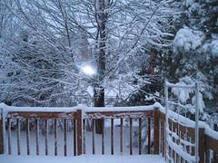 Deck of snow
