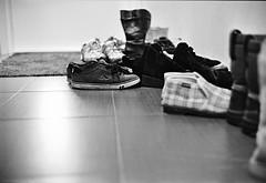 So Many Shoes (mikkokam) Tags: film kodak trix 400tx diafine leicam42 voigtlndernokton4014