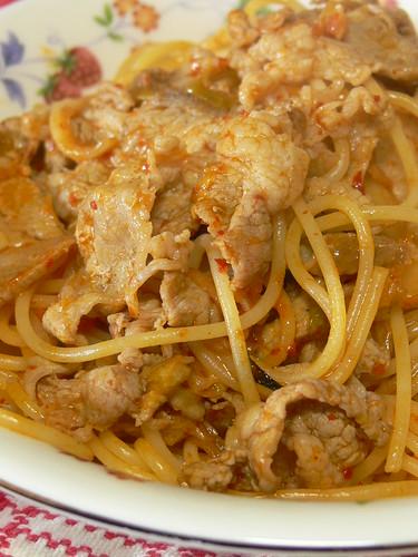 豚キムチスパゲティ