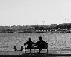 (Eleanna Kounoupa) Tags: sea blackandwhite greece ports rafina   blackwhitephotos    street