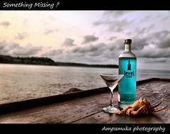 Something Missing ? /  (AmpamukA) Tags: morning travel sky beach glass island missing cyan shell resort captain thai vodka hook koh something trad kood         ampamuka
