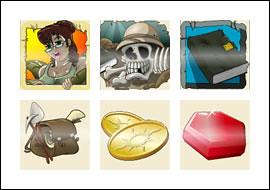 free Solomon's Mines slot game symbols
