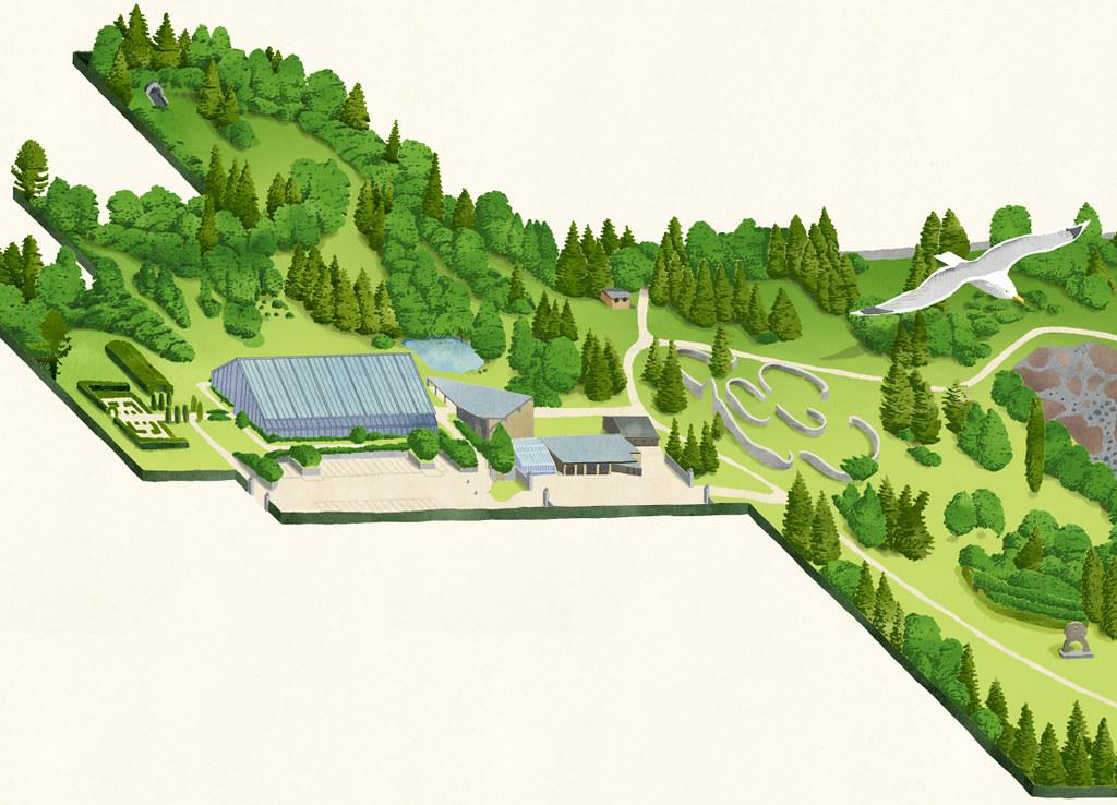 Dundee botanic garden map :