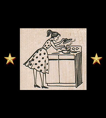 1950s Retro Housewife Cooks Dinner Rubber Stamp ~ Craft Stamps (RubberShow) Tags: black cooking vintage scrapbooking paper craft rubber retro stamp stove 1950s clipart etsy rubberstamp 1950 rubberstamping polkadot craftsupplies papercrafts vintageclipart craftstamps retroclipart