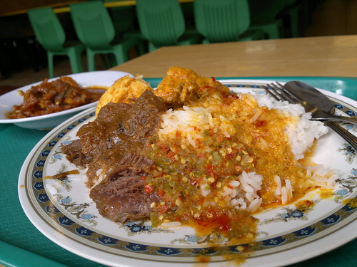 Beef Rendang and Curry Chicken