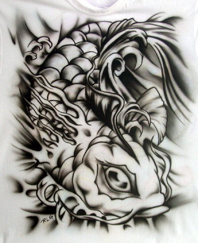 koi tattoo style