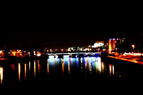 Glasgow and River Clyde at Night