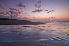(Yaoo Sheng Ming) Tags: sunset beach clouds coast taiwan    windturbines changhua