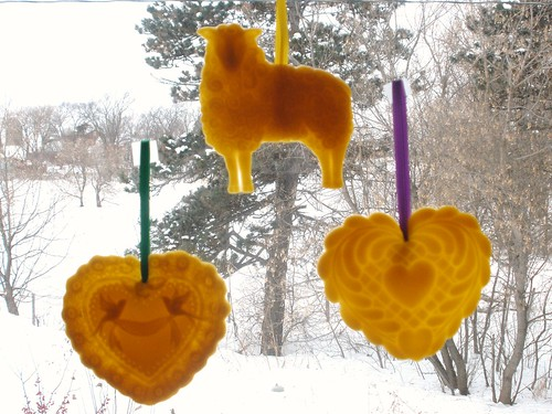 3 Beeswax Ornaments