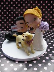 Fofinhos (Patricia Tiyemi ^.^) Tags: lab labrador biscuit makro fofinhos porcelanafria weddingcaketoppers noivinhospersonalizados noivoscute
