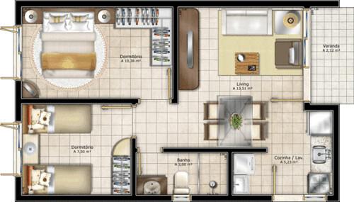 modelos de plantas residenciais