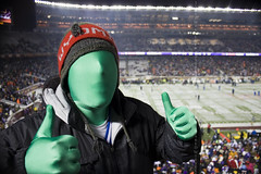 Green Man during Monday Night Football at TCF Bank Stadium (Icedavis) Tags: winter snow chicago man cold green minnesota night football outdoor stadium bears nfl minneapolis bank national mondaynightfootball monday vikings league greenman gophers thebank mnf tcf flickraward tcfbankstadium