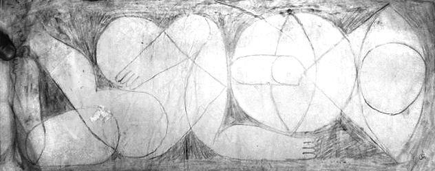 sketch for THE MOVEMENT. pencil on paper. 2010