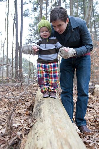 finn on the log