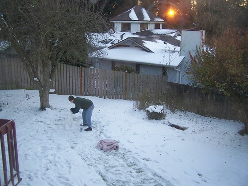 nov 158 Lucas making a snowman
