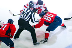 Perreault and Zajac Faceoff