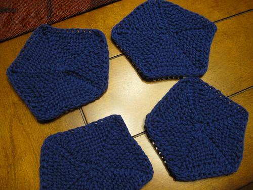 Knitting Like Crazy Mod Coasters