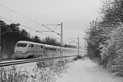Racing through the snow (Kanih) Tags: schnee snow ice train zug racing swirl eis rasen schnell wirbel